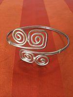Hopeinen rannerengas Second Hand Shop, Bangles, Bracelets, Silver, Shopping, Jewelry, Jewlery, Jewerly, Schmuck