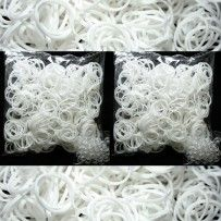 White Rainbow Loom Rubber Bands 1200 pcs