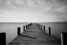 Boat Dock by Sanjin Jukic World Best Photographer, Boat Dock, Best Photographers, Bridges, Art Art, Art Photography, Boards, Black And White, Landscape Rake