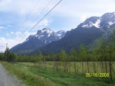 Bella Coola Valley near Firvale and Stupendous Mountain