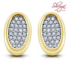 Shriya Gold Plated Diamond Earring