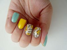 Mint & yellow florals