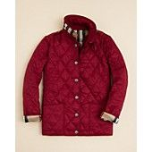 Burberry Girls' Mini-Pirmont Quilted Jacket - Sizes 4-14