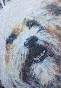 "Original ""Dog' Pastel Painting £15.00"