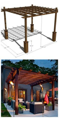 How To Build Your Own Pergola, 4 DIY Ideas and Tutorials | Handy & Homemade