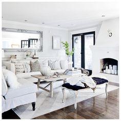 Style at Home, Jillian Harris living room coffee table Beautiful Living Rooms, Cozy Living Rooms, Home Living Room, Living Room Designs, Living Room Decor, Living Spaces, Small Living, Modern Living, Living Room Inspiration