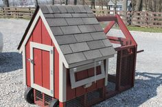 Compact Chicken Coop with wheels and handles for Free Range feeding. $717
