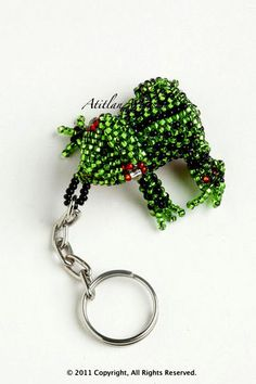 http://store.tapirback.com/garden-frog-beaded-keychain-silver-belly-f1979/