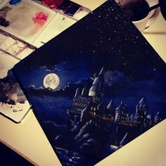 fahionugget: lost-crayons: I painted my graduation cap. Because I'd rather be at Hogwarts. holy shit