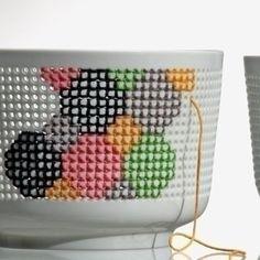 Embroidered Porcelain Bowls.