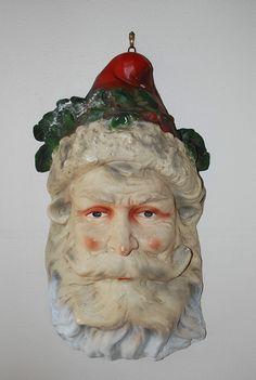 Vintage Victorian Santa Claus Large Christmas Wall Hanging Mask 24 | eBay