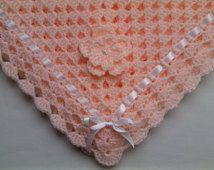 SALE HALF PRICE !!! Crochet Baby Blanket, Nursery Bedding christening baptism gift afghan, deken, colcha , coperta, Babydecke, manta