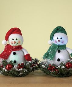Take a look at this Snowman  LED Wreath Figurine Set by Transpac Imports on #zulily today!