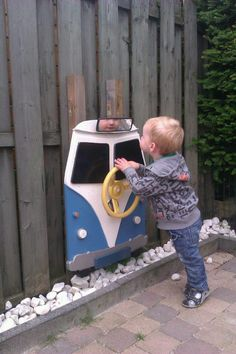 All kids should have one if these! Bugger the kids mum wants one! Volkswagen Bus, Vw Camper, Volkswagen Beetles, Van Vw, Combi Vw, Campervan, Kids Playing, Cool Cars, Dream Cars