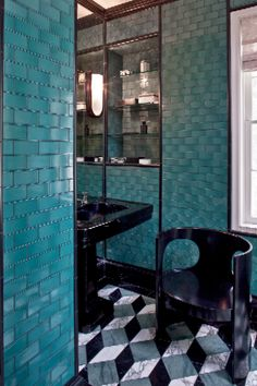 Kelly Wearstler, Bathroom, Stone, Floor