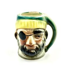 Toby Jug Miniature Pirate ornament Collectable mug Pot Pottery vintage My Ebay, Pirates, 1950s, Miniatures, Pottery, Mugs, Ornaments, Shop, Vintage