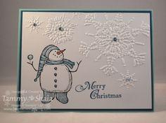 http://www.becreativestamping.com/be-creative-stamping/snow-much-fun/#    Stamp Set:  Snow Much Fun     Ink:  Blender Pen--Pool Party, Island Indigo, Stampin' Write Marker--Pumpkin Pie    Paper:  Pool Party, Island Indigo, Whisper White    Embellishments:  Basic Rhinestones, Dazzling Diamonds Glitter     Adhesives:  SNAIL, 2-Way Glue Pen    Northern Flurry Embossing Folder (#12090