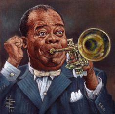 groggosite Jazz Painting, Blue Painting, Black Art Pictures, Great Pictures, Dennis Jones, 1920s Jazz, Funny Caricatures, Jazz Art, Duke Ellington