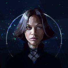 Zoe Saldana Portrait