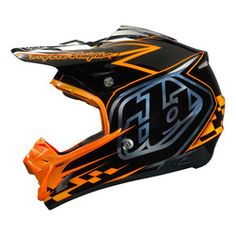Troy Lee Designs Se3 Motocross Helmet - Team Black Orange - 2014 Troy Lee Motocross Helmets - 2014 Troy Lee Mx Gear - 2014