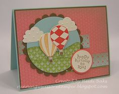 """Stampin up, """"Up up and away"""""""