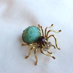 Spider brooch, costume jewellery from Jablonec nad Nisou, Czech republic, the second half of the 20th century