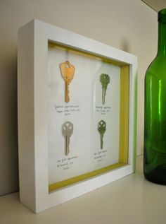 Cute idea--all the keys from places you've lived during your marriage!