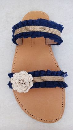 Handmade leather sandals designed by Elli lyraraki!!