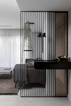 42 stunning modern partition design ideas for living room 8 Divider Design, Foyer Design, Decoration Design, Decoration Crafts, Design Room, Design Bathroom, Chair Design, Living Room Designs, Living Room Decor