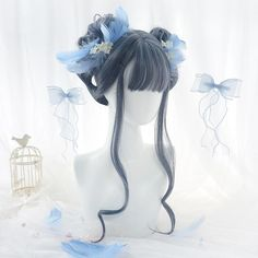 Kawaii Hairstyles, Pretty Hairstyles, Wig Hairstyles, Manga Hair, Anime Hair, Cosplay Hair, Cosplay Wigs, Cosplay Kawaii, Kawaii Wigs