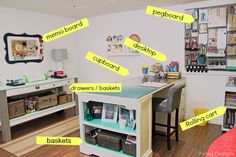 Craft Room Organizing Ideas - FYNES DESIGNS