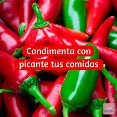 Condimenta con picante tus comidas  #Fitness #VidaSana #DARAGourmet
