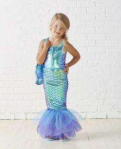 Kids Mermaid Costume | DIY kids Halloween Costume