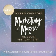It's here! @itsmebeccalee I have combined forces to bring you MARKETING & MAGIC! We start next Tuesday with live calls biz strategy and #branding and marketing juju for the soul! .        . We invite you to walk with us in this intimate course to help you attract your tribe and get your prosperity pipeline primed and working. . Because really let's be honest...... .  Haven't you been itching to market your business in a way that is totally aligned with your soul and also strategically set up…