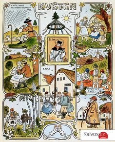 Image result for josef lada Contemporary Decorative Art, Naive Art, Children's Book Illustration, Xmas Cards, Four Seasons, Flower Art, Childrens Books, Illustrators, Folk Art