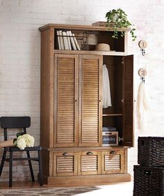 Armoire for coats and linens by the front door since we don't have a hall closet... want soon...