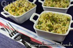 Bora fazer um #almoço fácil e delicioso, é o Risoto de Arroz Integral e Legumes, sem dúvida agradará muito.  #Receita aqui: http://www.gulosoesaudavel.com.br/2013/03/18/risoto-arroz-integral-legumes/