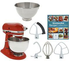 KitchenAid 4.5qt. 300W Tilt Head Mixer with 3qt. Bowl — QVC.com