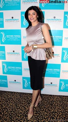 Bollywood actor Sushmita Sen during the Mother Teresa Memorial International award 2013 in Mumbai, India on October 27, 2013. http://movie.webindia123.com/movie/asp/event_gallery.asp?cat_id=2&p_id=0&e_no=6330