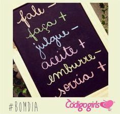#BomDia  Estamos cheias de novidades e um dia lindo por vim #Positividade #BeHappy  #CodigoGirls