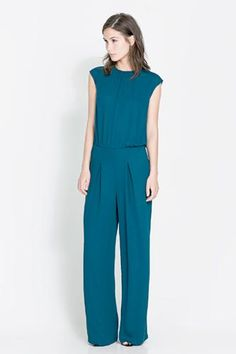 Zara jumpsuit with open back.