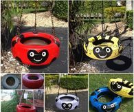 DIY Lady Bug Tire Swing
