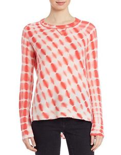 Lord & Taylor Tie-Dye Cashmere Sweater Women's Plumeria X-Small