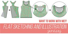 Isn't that Sew offers technical flat sketching and illustration services related to apparel design and production. ITS would love to help you develop a single flat sketch or a series of illustrations. This service is perfect for independent pattern and apparel designers who might need sketches or illustrations for their Pattern Company, website, or manufacturer. Click to learn more...