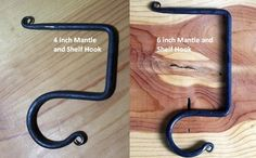Hang your stockings with care this year, with these awesome hand crafted wrought iron mantle hooks!