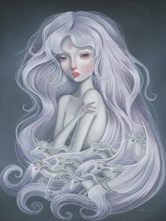 "Audrey Pongracz ~ Reminds me of, ""The Last Unicorn""  one of my favorite childhood films."
