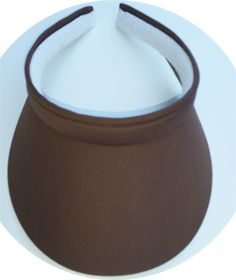 Clip On MID Chocolate sun visor for women