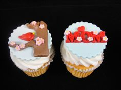 Edible Mother's Day Cupcake Toppers, Fondant Toppers, Cupcake Decorations, Mother's Day Celebrations, Edible Bird Toppers - Qty 12 by MamaMiasCupcakes on Etsy