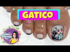 Cute Pedicure Designs, Flower Nail Designs, Cute Pedicures, Flower Nails, Youtube, Work Nails, Enamels, Polish Nails, Toe Nail Art