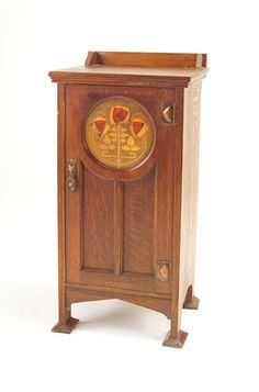 English Arts & Crafts cabinet with medallion of Glasgow roses Furniture Styles, Wood Furniture, Furniture Ideas, Furniture Design, Craftsman Style Bungalow, Craftsman Homes, Decoration, Art Decor, Mission Style Furniture
